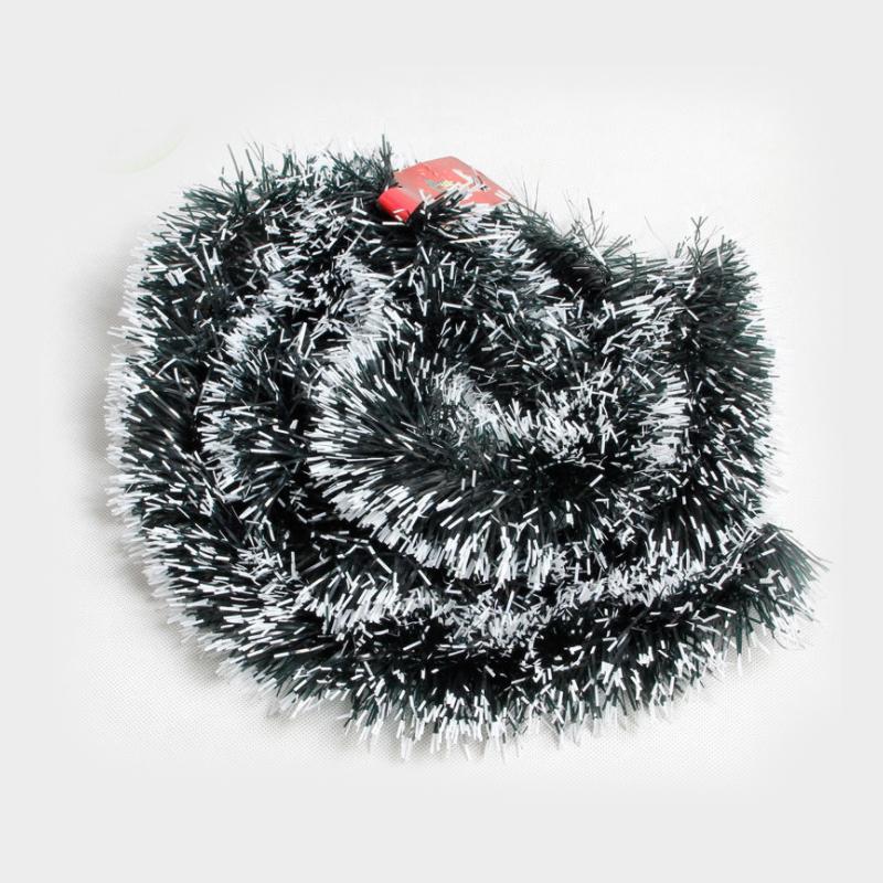 2m navidad barra de la decoración Tops Suministros Adornos oscuro blanco del partido de la malla verde de caña árbol de cinta de Navidad Garland