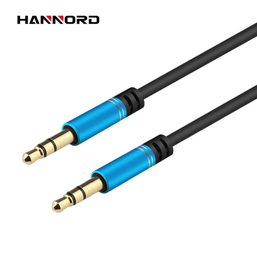 Estéreo 3.5mm audio cable aux macho a macho Aux Audio Jack Cable para auriculares del teléfono del coche del altavoz 3 4 Polo Polo 1M