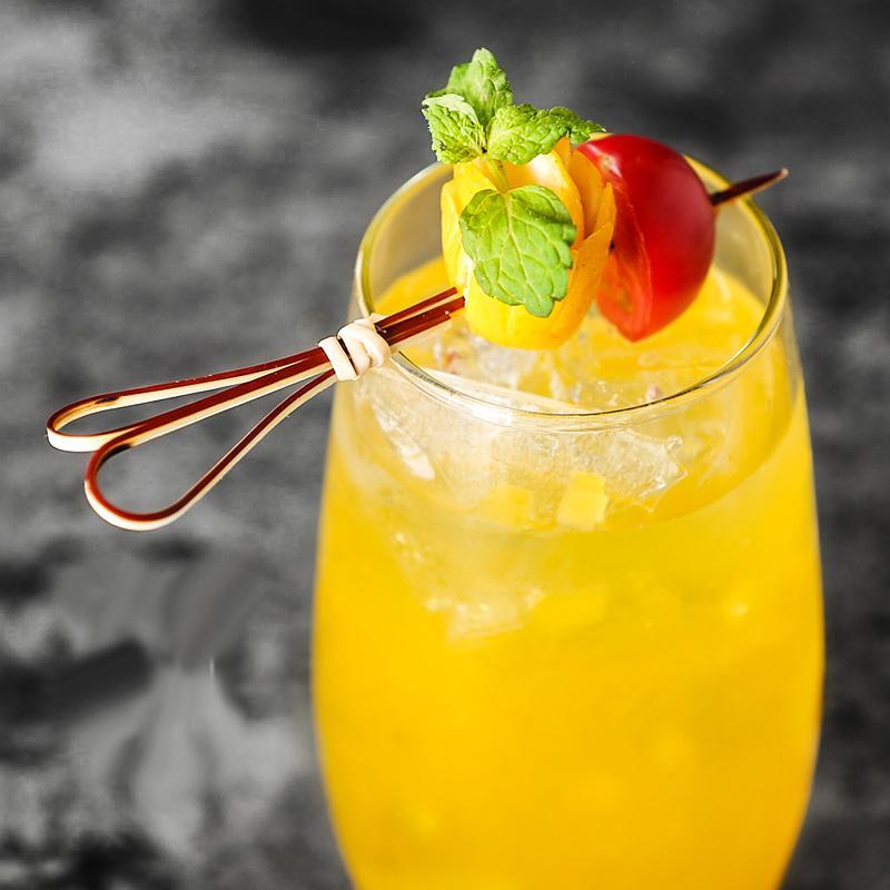 12см 100шт Bamboo Scissor Форма Коктейльные палочки Pick Martini Напиток Стик выбор LEVO Bar Tool
