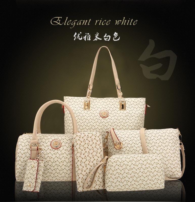 2019 nuevo estilo de estilo coreano del hombro de mano diverso tamaño Bolsas seis piezas determinadas del bolso de las mujeres de la madre y del niño del bolso