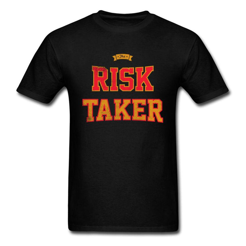 리스크 테이커 티 셔츠 티셔츠 블랙 탑스 티셔츠 코튼 의류 남성용 생일 선물 티셔츠 대형 빈티지 티셔츠