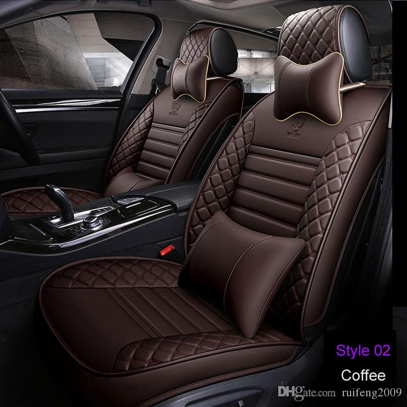 Pu High Grade Material Car Seat Covers Set Universal Fit Most Cars