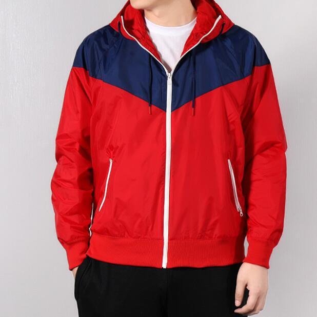 La venta caliente diseñador Escudo chaquetas Hombres Mujeres Deportes Marca rompevientos remiendo Coats cremallera Hoodies Correr Outwear 20030601CE