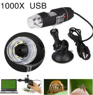 2019 Wholesale- Hot Sale New Portable 1000x Digital USB Microscope Endoscope Magnifier Video Camera High Quality Microscopio