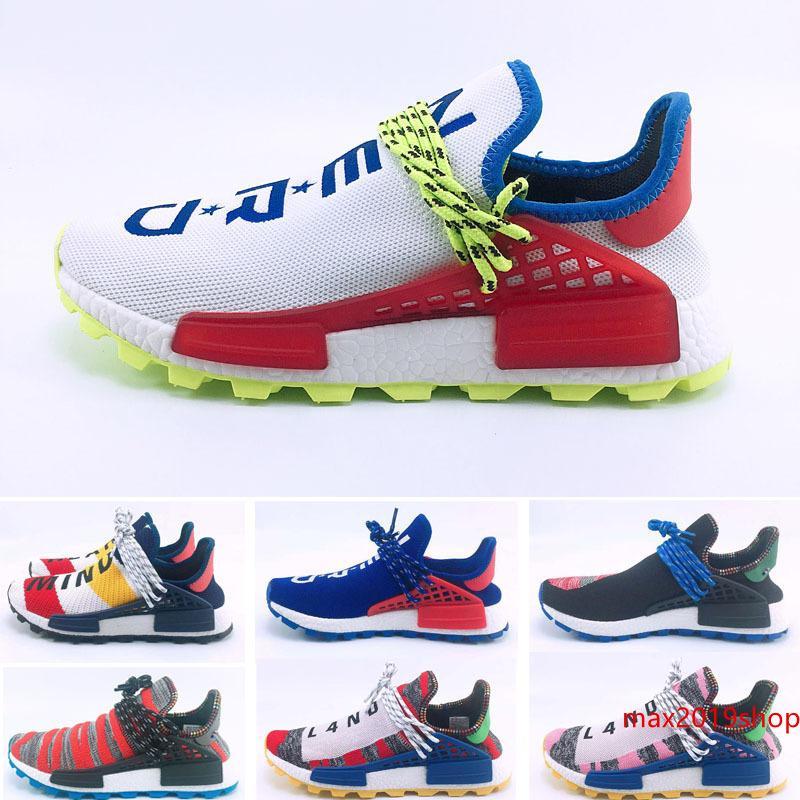 2019 Pharrell Williams Human race Holi MC Solar Pack Sneaker MEN S & Women s lover Running fashion Sport Shoes Size36-47