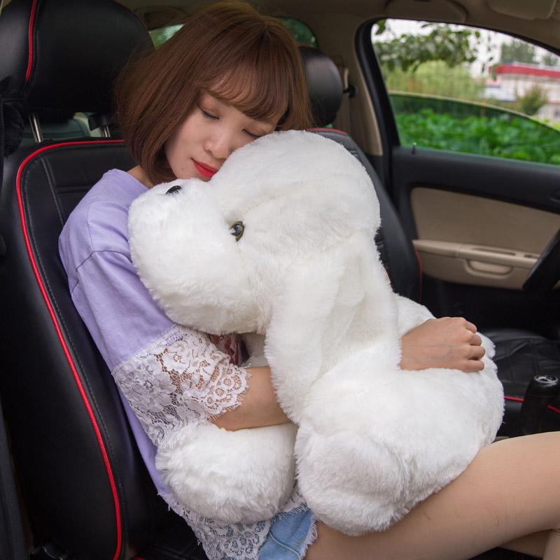 Dorimytrader Big Soft Puppy Doll Cartoon White Dog Plush Toy for Children Gift Car Decoration 24inch 60cm DY50779