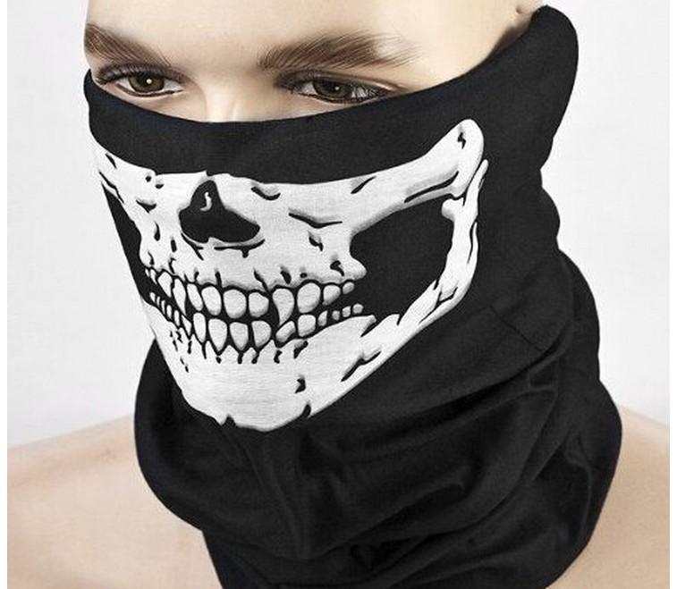 New esqueleto do crânio Veil Outdoor motocicleta bicicleta multi Headwear Hat Scarf metade do rosto Máscara Cap Neck Santo Scarf Halloween mask1