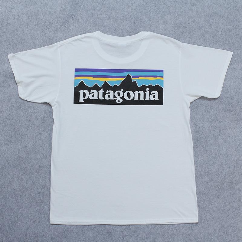 Gli amanti estate a maniche corte T-shirt di marca di modo Streetwear bianco magliette PATAGONIA Mens Donne Stampa Top Abbigliamento Skateboard