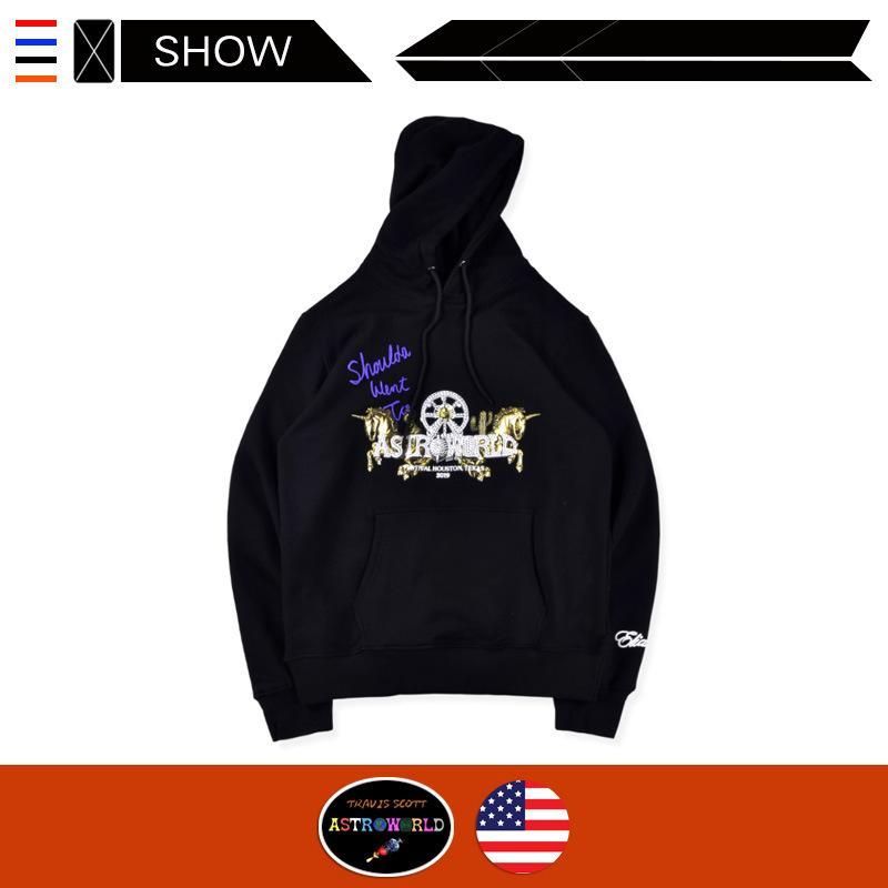 Limited Offer designer high street tide hoodies Travis Scott Shoulda Went to Astroworld limited hoodies sweater Europe and America ins hot