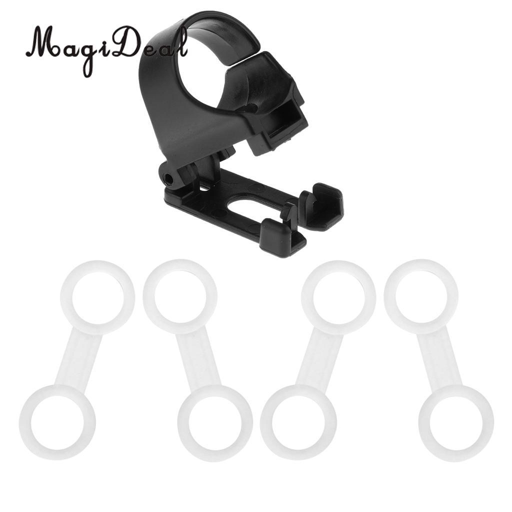 MagiDeal 4 Pieces Durable Flexible Silicone Universal Snorkel Clip Keeper Holder Attaching to Scuba Dive Mask