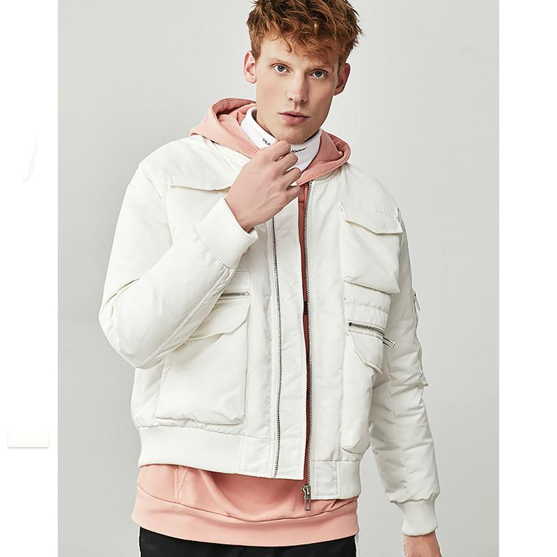 Beyaz Ördek Aşağı Ceket Erkekler Moda Ceket Erkek Kar Parkas Erkek Sıcak Marka Giyim Kış erkek Aşağı Ceket 2019 Giyim LW853 T190913