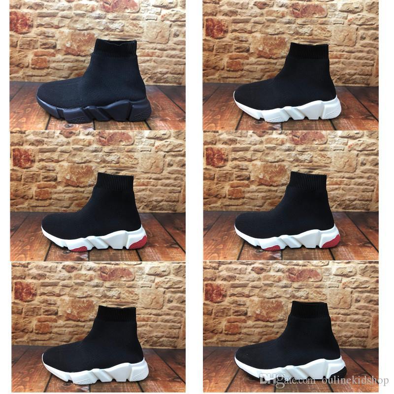 Infant Mannschaft Socken Runner Kinder Kid Schuhe Mannschaft Socken-Runner-Trainer-Schuhe Kinderschuhe Hight Top Unisex New Edition Sneakers