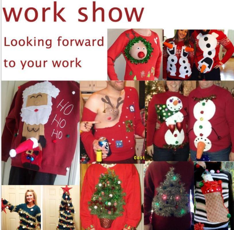 T-shirts Noël imprimé cadeau rouge à manches longues Tops Designer Hommes cadeau de Noël personnalisé