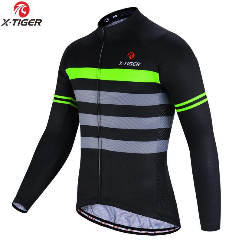 X-Tiger Winter-Vlies-Radtrikot Thermal Bike Wear Langarm MTB Fahrrad Fahrradbekleidung Invierno Maillot Ropa Ciclismo