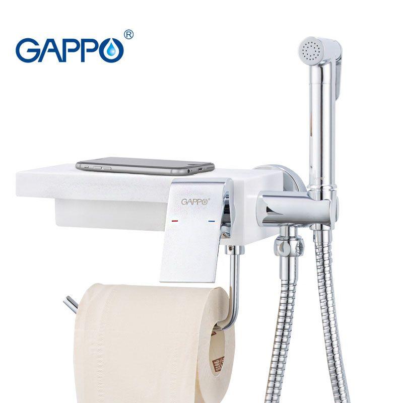 gros robinets bidet toilette bidet pulvérisateur d'eau douche hygiénique robinets d'eau de bouchon anal pour les titulaires du plateau de support de papier de toilette