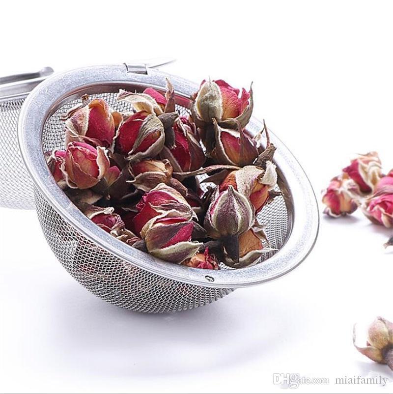 Coador de chá de alta qualidade 304 aço inoxidável 4.5 cm de diâmetro infusor bule de malha filtro de bola com corrente fabricante de chá ferramentas epacket