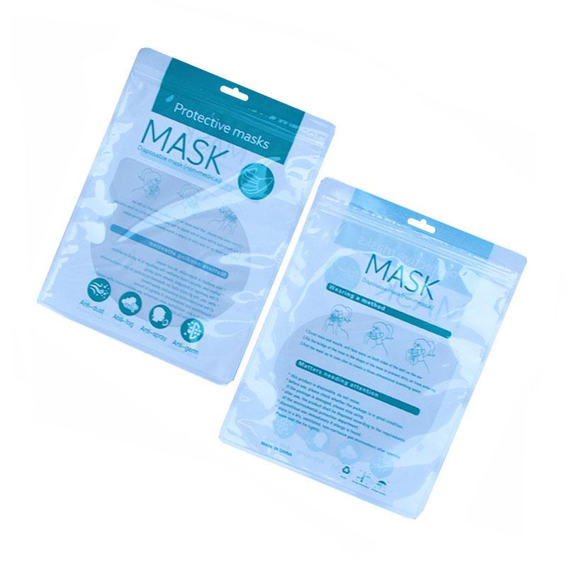 En la acción para adultos y niños de alta calidad de la mascarilla desechable auto sellado de bolsas de plástico universal Ziplock