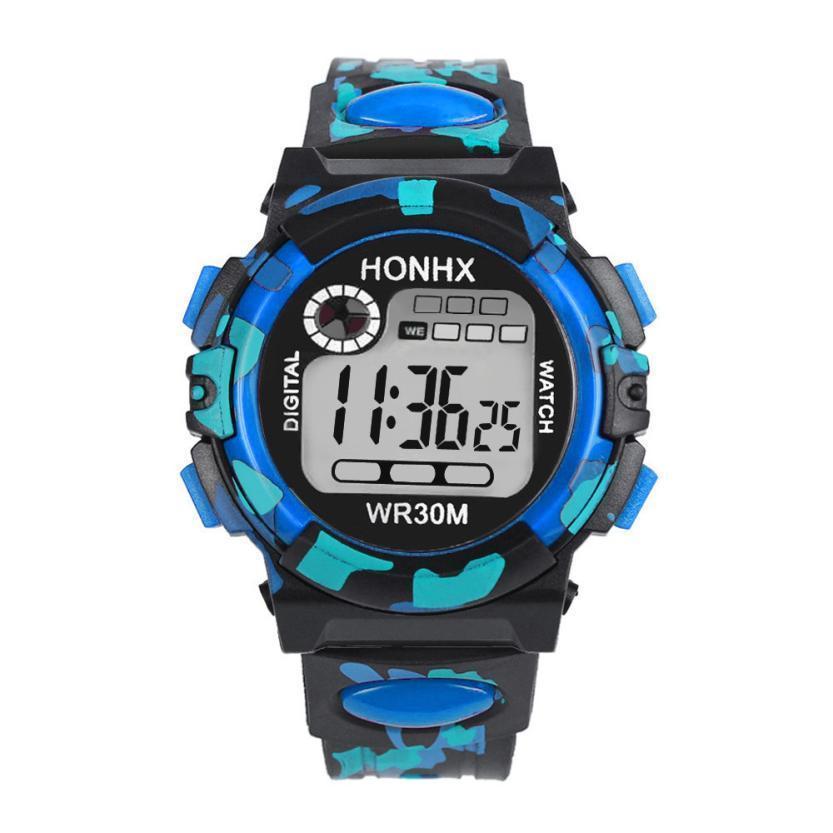 Children Watch Boy Digital Led Quartz Alarm Date Wrist Watch Silicone Male Sports Kids Watch Waterproof Reloj Deportivo Gift #d