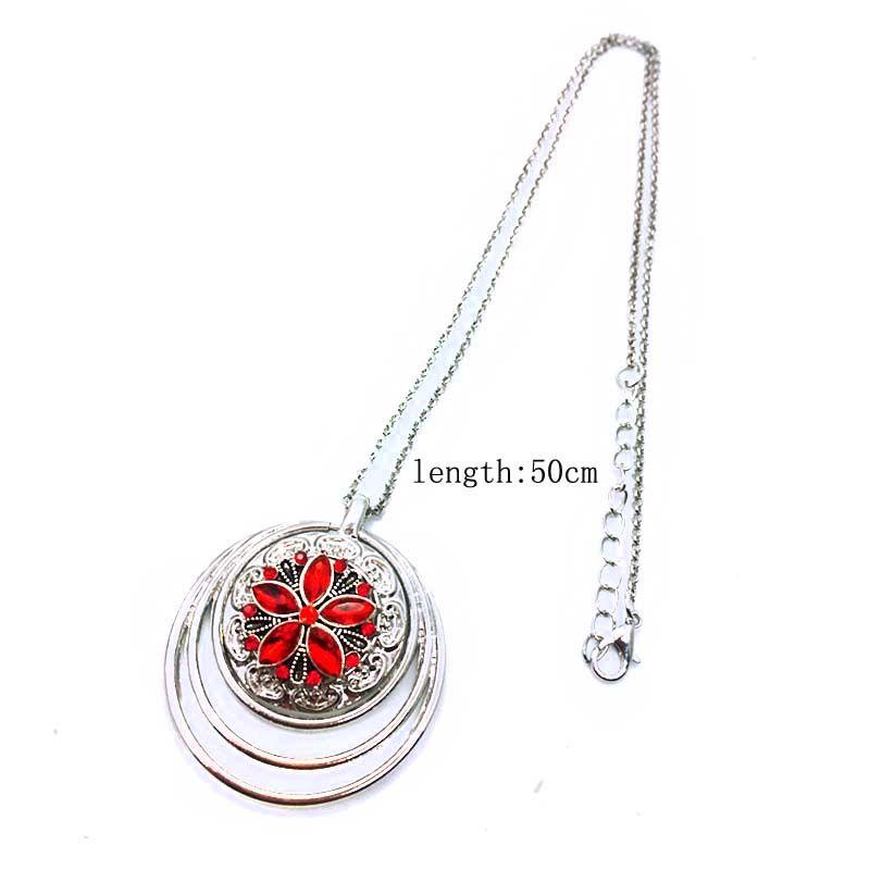 Mode Interchangeable Fleur Gingembre Rond Collier 101 Fit 18mm Snap Bouton Pendentif Collier Charme Bijoux Pour Femmes Cadeau