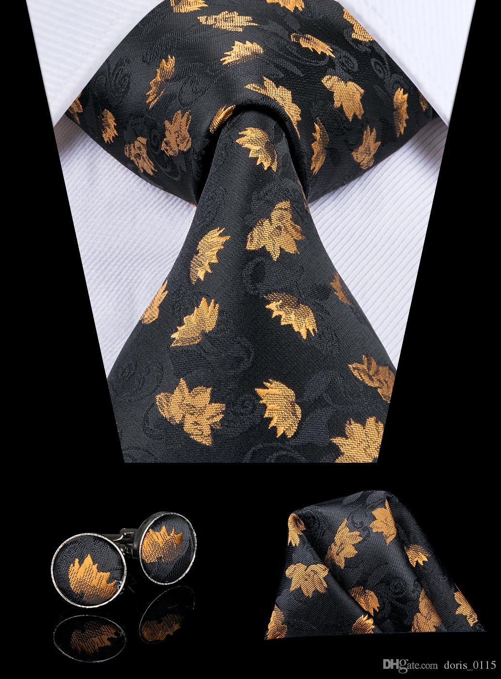 Corbata Hi-Tie para hombre Amarillo dorado Talla /única