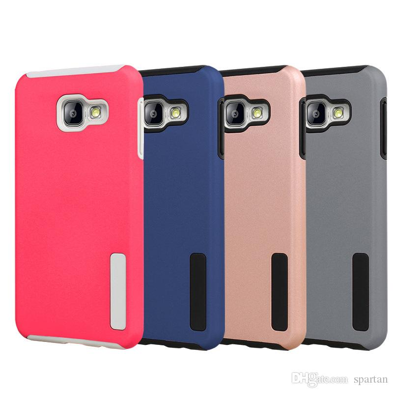 For Samsung S20 S10 plus Note 9 Hybrid Dual Layer Case Armor TPC+ PC Cover for Galaxy A70 A20 A10 LG Stylo 5 K40