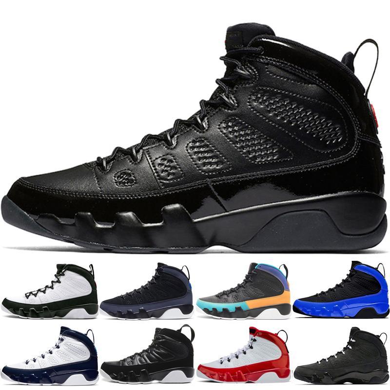 La alta calidad 9 9s los zapatos para los zapatos de baloncesto del mens Bred espacio OG mermelada Racer Blue Dream es lo que hace Itman zapatillas de deporte negras azules deportivos