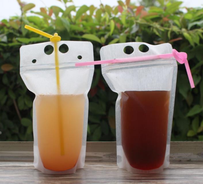 250ml, 500ml, 750ml, 1000ml بلاستيك تغليف المشروبات المجمدة كيس نظيف لعصير المشروبات الحليب القهوة SN119