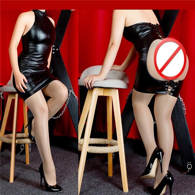 Longue Cuir Cuir Hanches StroitJacket Show Sexy Bondage Jouets Jouets adultes Jupe sexe Jeux Jeux de Jeux de Sexe Votre BDSM pour Couples Erotic Black Totlx