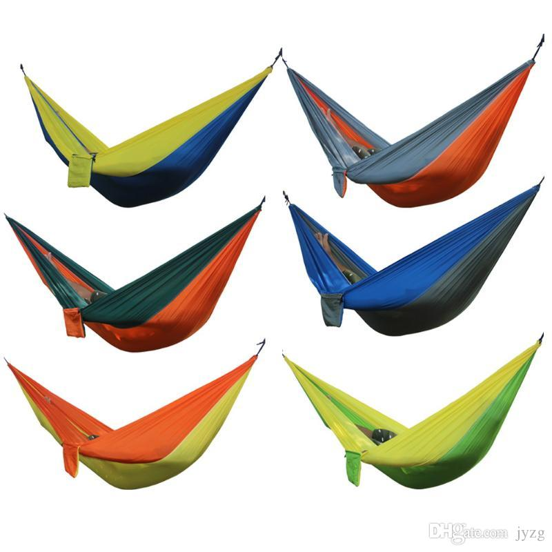 Portable Outdoor Hammock 2 Person Garden Sport Leisure Camping Hiking Travel Kits Hanging Bed Hammocks Hangmat For Playing