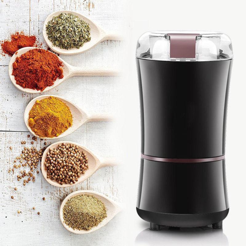 400 Watt Elektrische Kaffeemühle Mini Küche Salz Pfeffermühle Leistungsstarke Bohnen Gewürze Nuss Samen Kaffeebohnen Mühlen