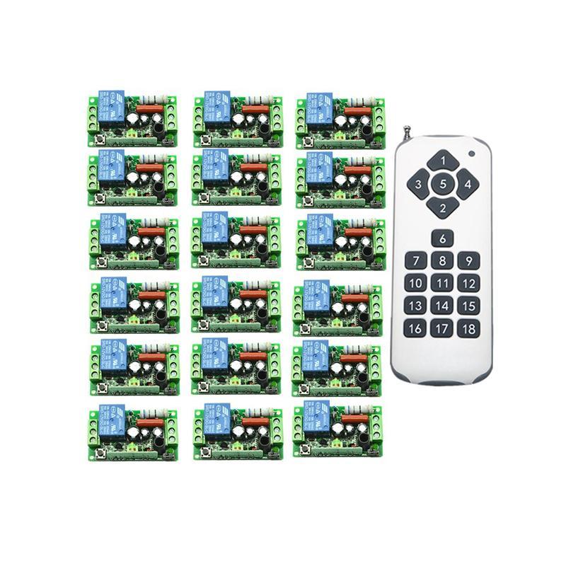 AC220V 10A 1 CH اللاسلكية التحكم عن بعد التبديل teleswitch مفتاح التحكم عن بعد 1CH ترحيل التعلم قانون