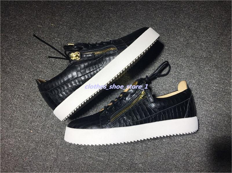 Giuseppe Zanotti 2018 Men Novo Partido Para Designer amantes Sneakers Couro High Top Studded Spikes Casual Flats parte inferior vermelha de Luxo Shoes 9721xshfbcl