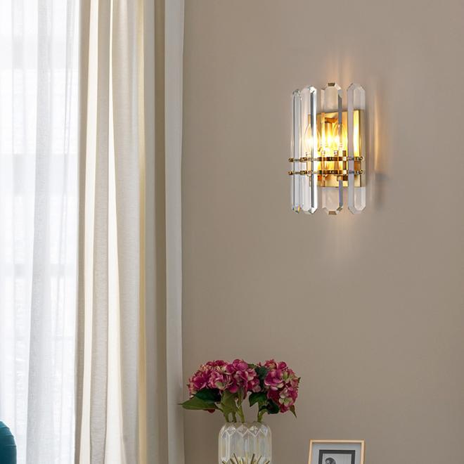 sconce levou contemporânea de luxo cobre iluminação de parede sconce cristal Lâmpadas modernas luzes arandela para sala de estar quarto cabeceira varanda