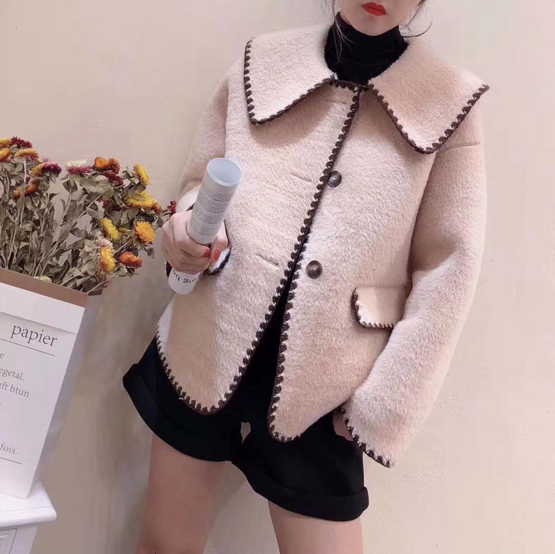 Mulheres senhoras jaqueta de moda cardigan sizeSMLWSJ000 alta qualidade jacket70 boneca colar