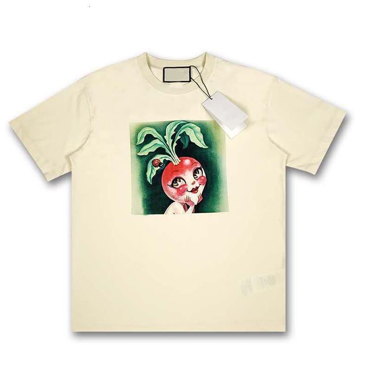 İtalya Havuç Tavşan Bej Tee Sokak Modası G Casual Kısa Gömlek Erkekler Kadınlar Guc T4RE içinde 20ss Yapımı
