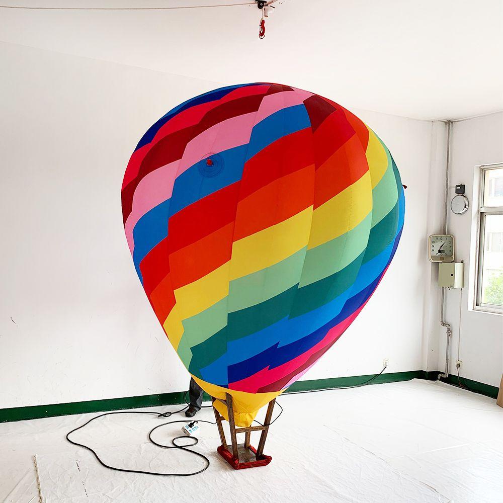 - 2020 Shopping Mall Decorative Inflatable Rainbow Hot Air Balloon