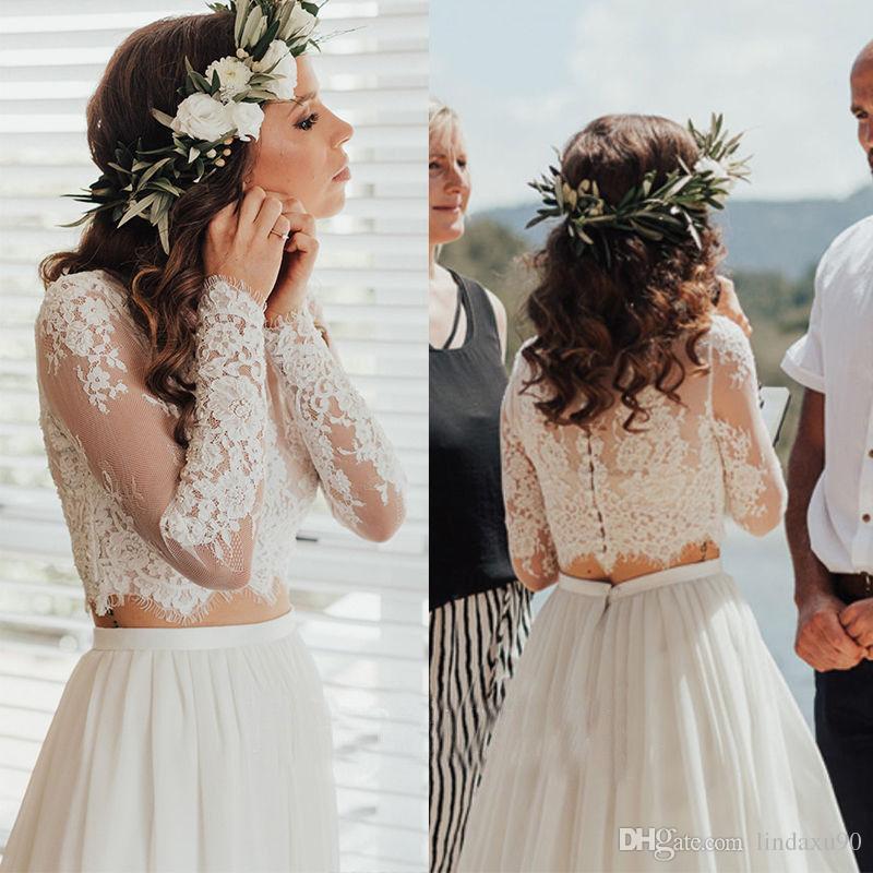 New Fashion Wedding Jacket Lace Top Applique Bridal Bolero Long Sleeves Jacket Shrug White Ivory Custom Made
