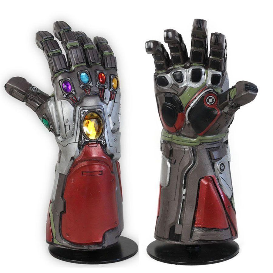 2 colores 2019 Guantes Vengadores 4 Iron Man látex de Infinity guantelete nuevos niños adultos cosplay de Halloween Final de partida Thanos juguetes para niños C6794