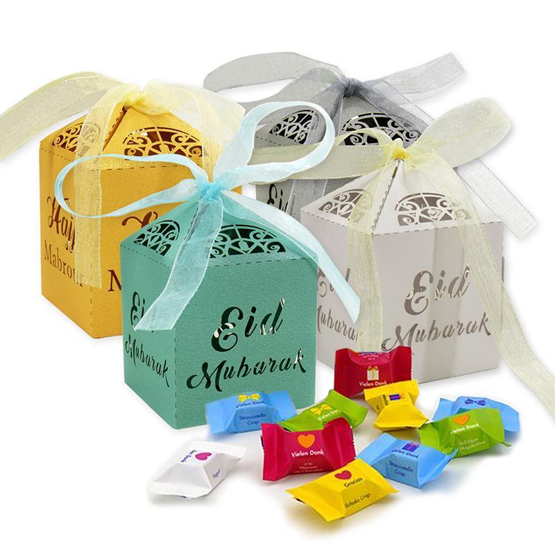 Tatlı Paket Depolama Hollow Ambalaj Şeker Kutuları Şerit Hediye Kutusu Kağıt Doğum Craft Parti Dekoru Konteyner Noel