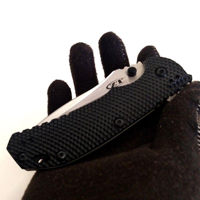 """أفضل EDC Zero Tolerance 0560BW سكين عائق أسود G-10 Flipper 3.75 """"Sanding M390 Blade ZT أدوات سكين قابلة للطي في الهواء الطلق مجموعة"""