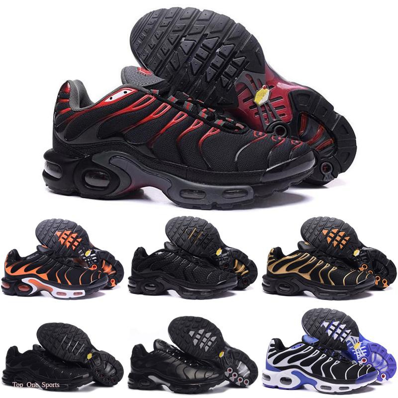 Tn Plus Mens Running Shoes New Black White Red Tns TN Plus Ultra Sports Shoes Cheap TN Requin Fashion Designer Sneakers