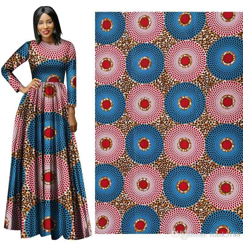 Ankara African Polyester Wax Stampe Tessuto Binta Cera Reale di alta qualità 6 yards / lot Tessuto africano per abito da festa