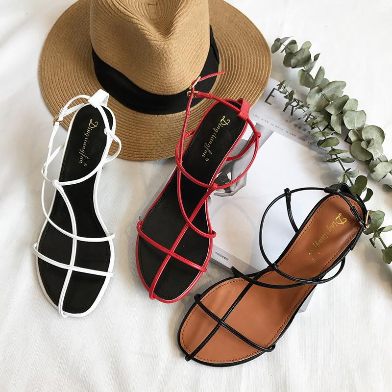 Pretty2019 Style Rome Ins Trend Joker Fine With Hollow Out Fasciola Woman Sandals 503-1