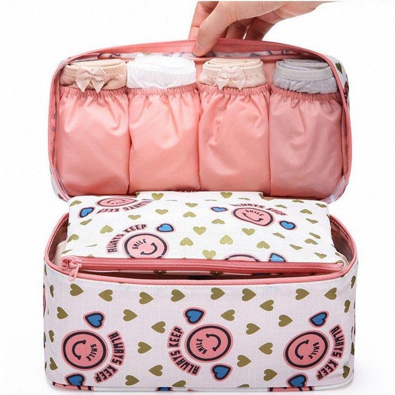 Viajes multifuncional bolso del cosmético de las mujeres de la ropa interior de tocador maquillaje organizador bolsas impermeables Mujer de almacenaje del sujetador compone la caja QSGs #