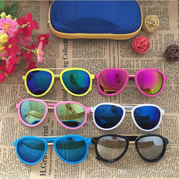 Carino Suqare bambini occhiali da sole di marca 2020 Bambina Bambino Bambino Occhiali da sole Oculos de sol infantil