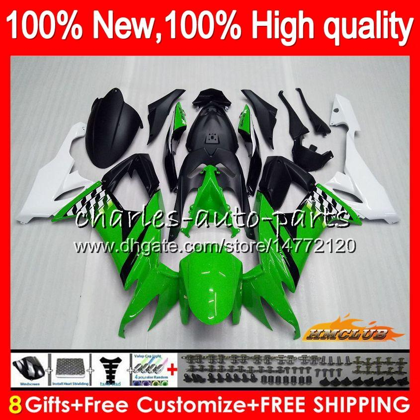 Körper für KAWASAKI ZX1000C ZX10R grünes Licht ZX10R 08 09 10 Karosserie 45HC.7 ZX 10R 1000CC ZX1000 ZX 10 R 2008 2009 2010 Voll Fairings Kit