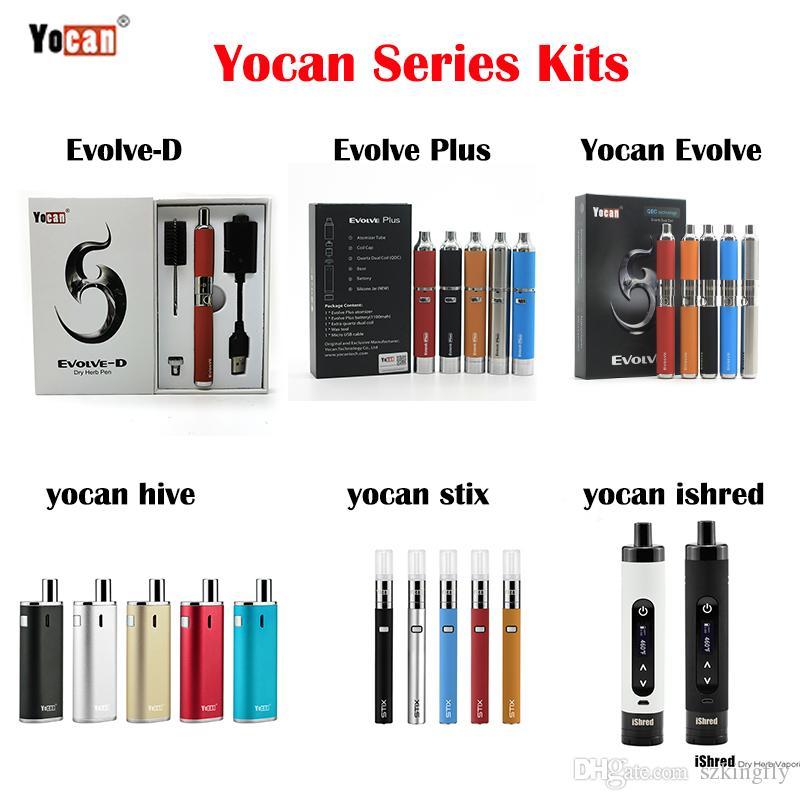 Authentic Yocan Evolve Plus iShred Magneto Pandon Kit Wax Pen Dry Herb Vaporizer E Cigarette Starter Kits