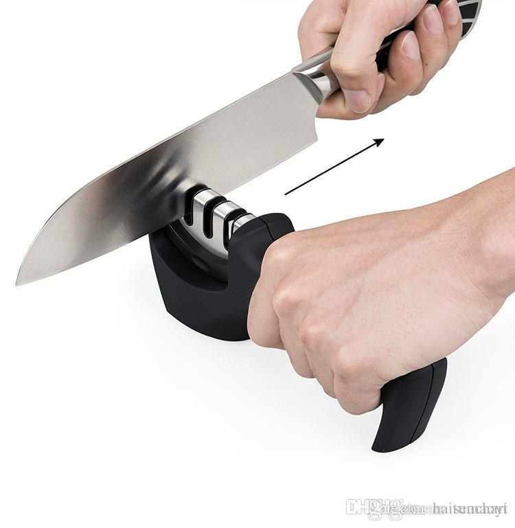 Открытый кемпинг профессиональный нож точилка из нержавеющей стали керамический нож точильный камень вольфрама стали Алмаз точилка инструмент NY083
