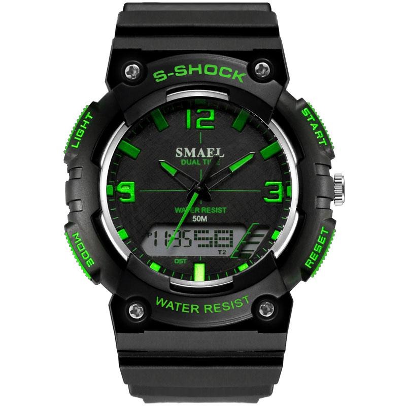 Движение Trend из моды для мужчин Часы студентов Часы Электронные часы Мужской стиль милитари Таблица вскользь бренда 1539C SMAEL