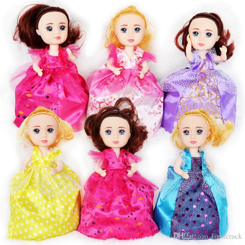 Cupcake Scented Princess Doll 15CM 6 PCS Reversible Cake Debbie Lisa Etude Britney Kaelyn Jennie with 6 Flavors Magic Toys for Girls